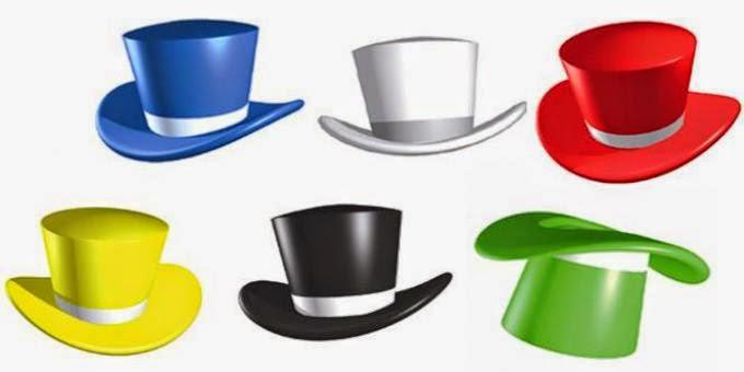 القبعات الست في التفكير